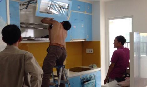 Thi công tủ bếp Acrylic căn bộ 4S Linh Đông Quận Thủ Đức
