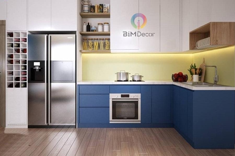 Tủ bếp MFC Laminate cho chung cư cao cấp Mẫu 032