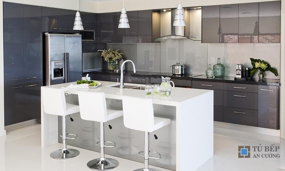 Tủ bếp Acrylic An Cường hiện đại mã màu PARC16