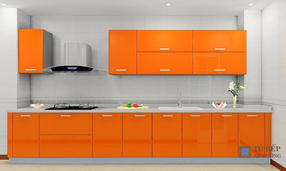 Tủ bếp Acrylic An Cường chữ I màu cam mã màu PARC23