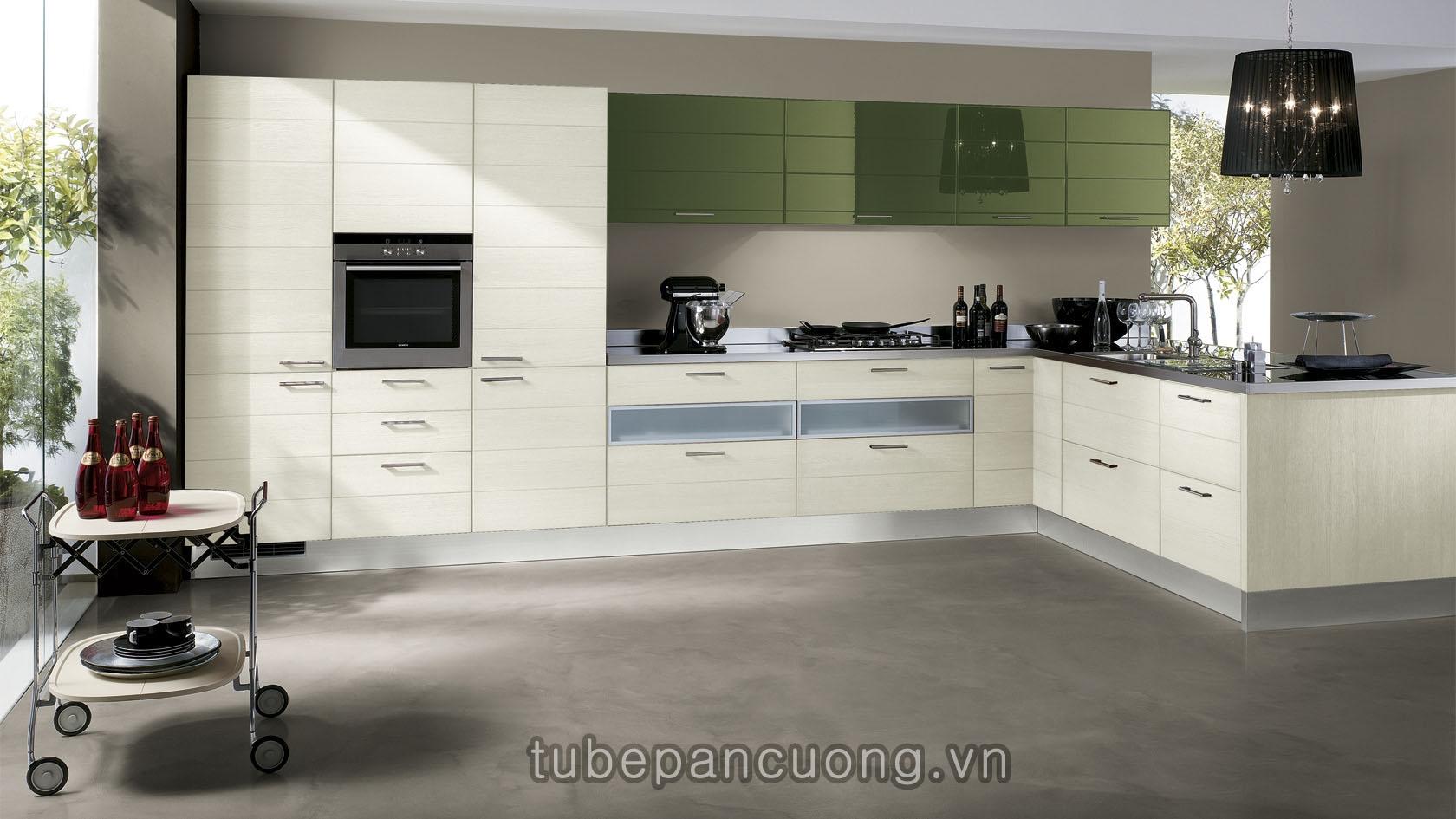 Tủ bếp Acrylic An Cường Mẫu 080