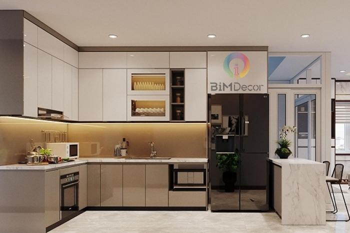 Tủ bếp Acrylic An Cường Mẫu 086