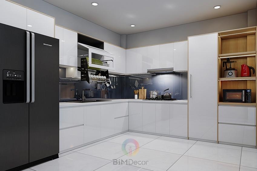 Tủ bếp Acrylic An Cường Mẫu 082