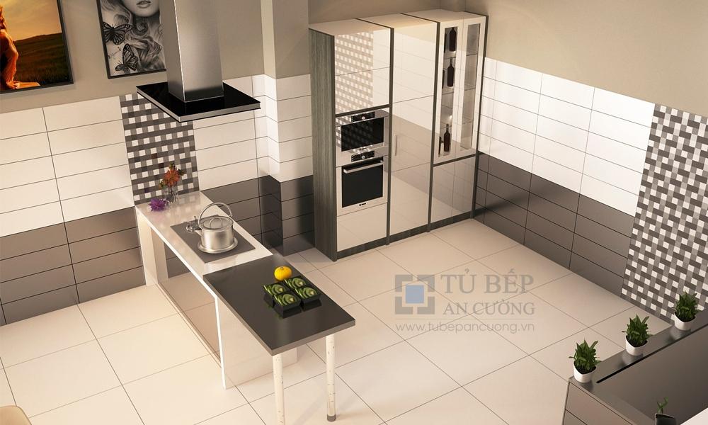 Thiết kế và thi công tủ bếp có bàn đảo Nhà Phố Quận 3