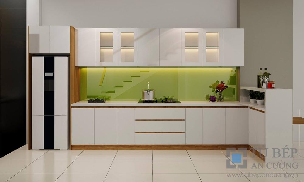 Thiết kế và thi công tủ bếp Acrylic Nhà Phố Quận Gò Vấp