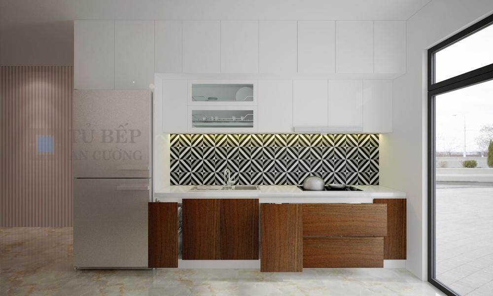Thiết kế và thi công tủ bếp Chung Cư Bộ Công An Quận 2