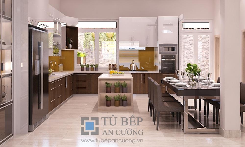 Thiết kế & thi công tủ bếp biệt thự Bình Chánh