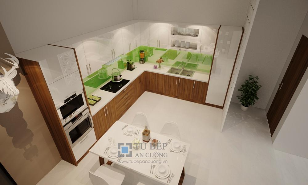 Thiết kế & thi công tủ bếp chữ L nhà phố Quận Gò Vấp