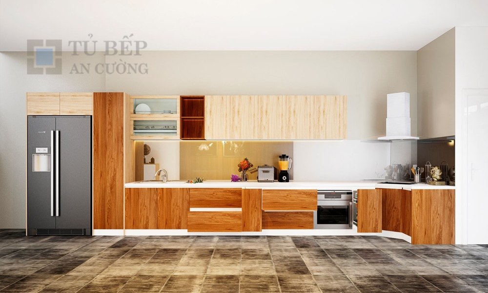 Thiết kế & thi công tủ bếp Laminate nhà phố Quận Gò Vấp