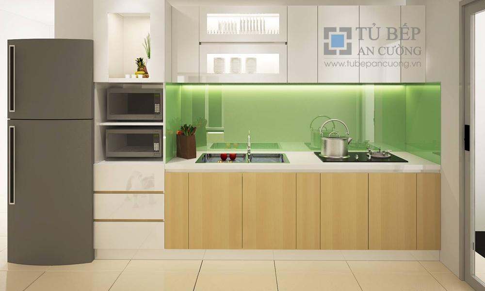 Tủ Bếp Melamine & Acrylic Chung cư 4S Linh Đông