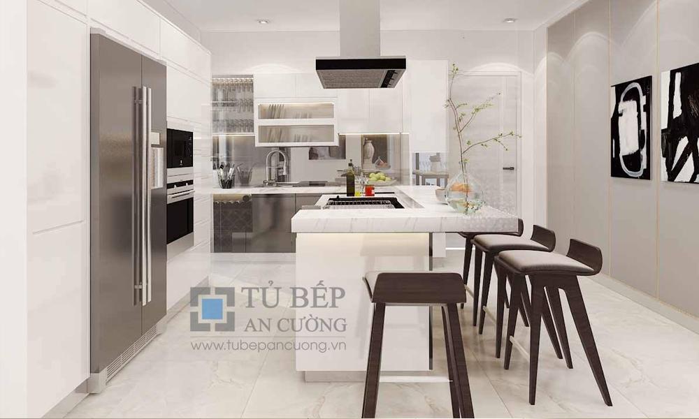 Tủ Bếp Acrylic căn hộ RIVIERA POINT Quận 7