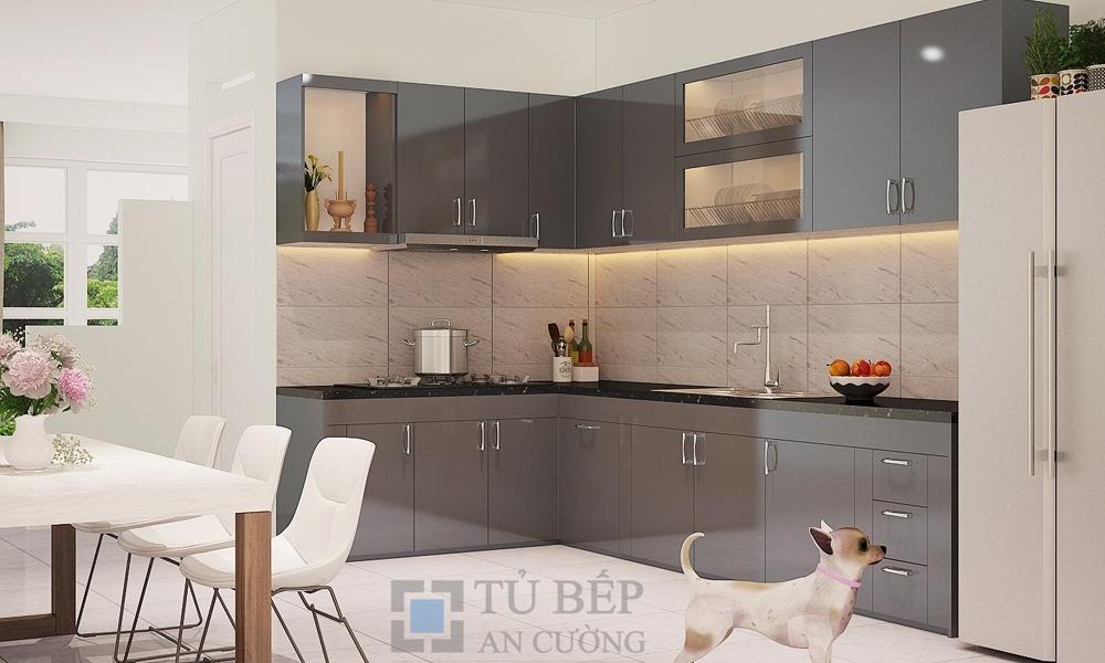 Tủ bếp Acrylic chữ L Quận 9