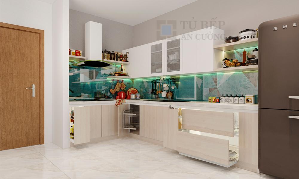 Thiết kế & thi công tủ bếp Căn Hộ Galaxy 9 Quận 4