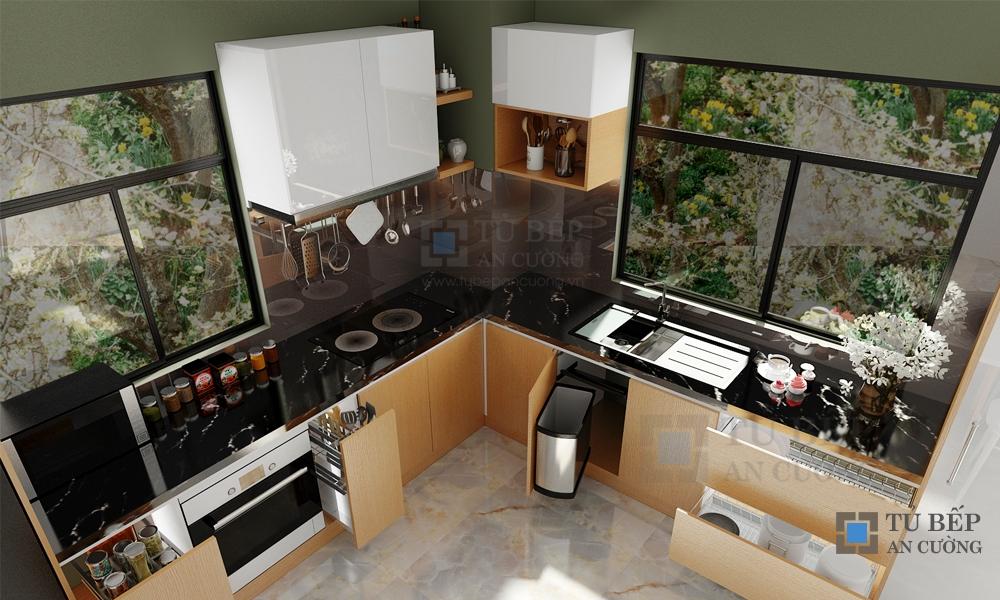 Thiết kế & thi công tủ bếp nhà Biệt Thự Quận 2
