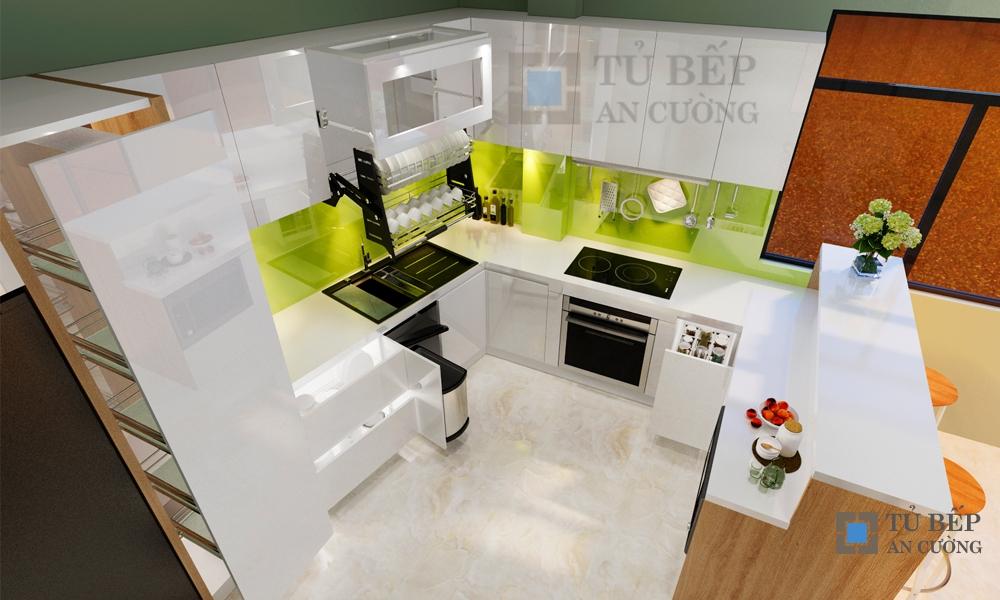 Thiết kế & thi công tủ bếp biệt thự Thảo Điền Quận 2