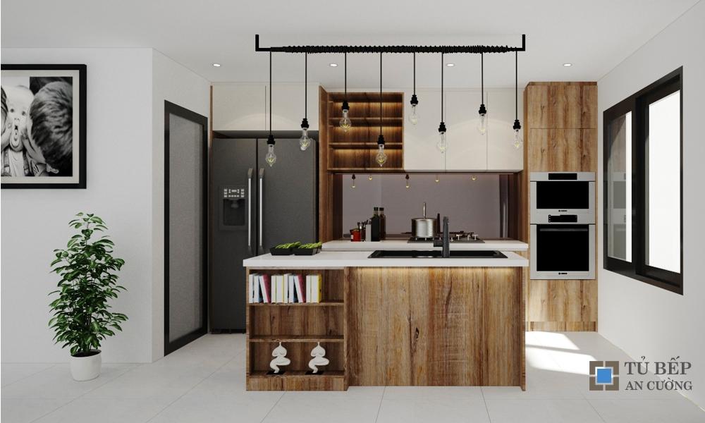 Thiết kế & thi công tủ bếp căn hộ Masteri T1.B03.07