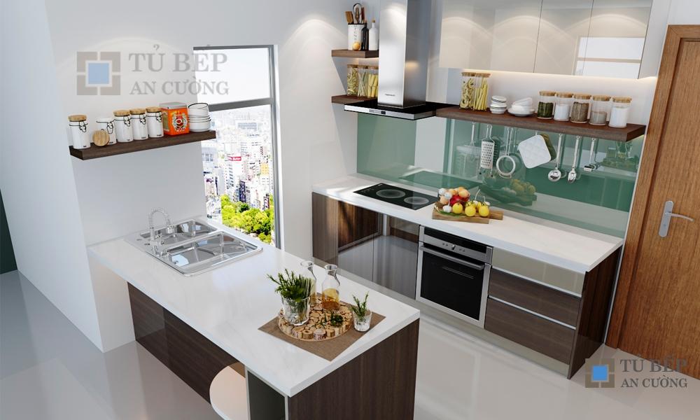 Thiết kế & thi công tủ bếp căn hộ Masteri T3.B08.09
