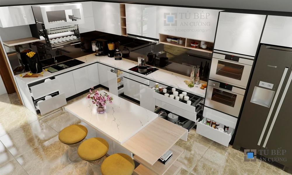 Thiết kế & thi công tủ bếp biệt thự cao cấp Quận 7