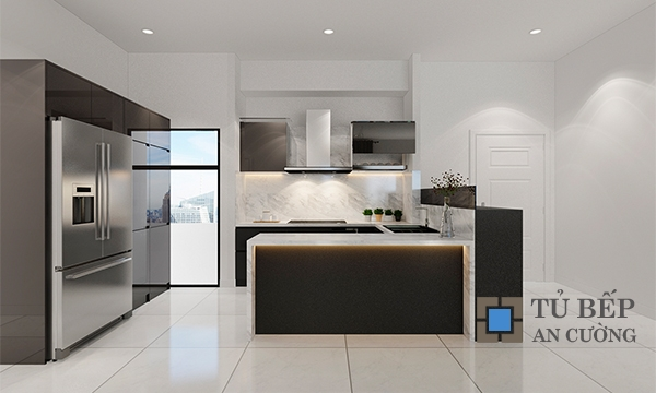 Thiết kế & thi công tủ bếp căn hộ The Acsent Quận 2