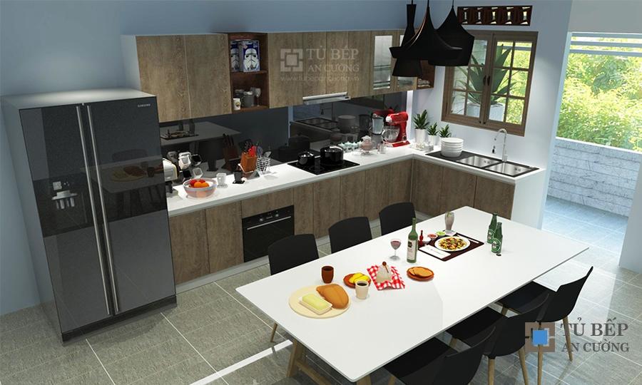 Thiết kế & thi công tủ bếp nhà phố Quận 2