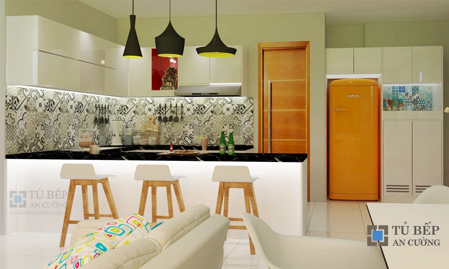 Thiết kế & thi công tủ bếp có đảo bếp Quận 5
