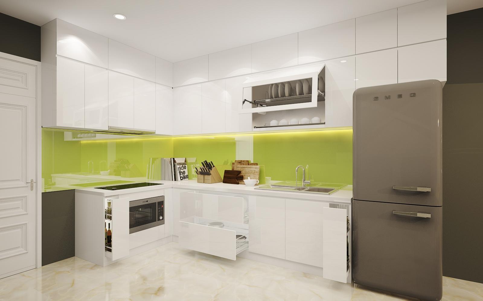 Thiết kế & thi công tủ bếp Acrylic Căn Hộ Lexington Quận 2