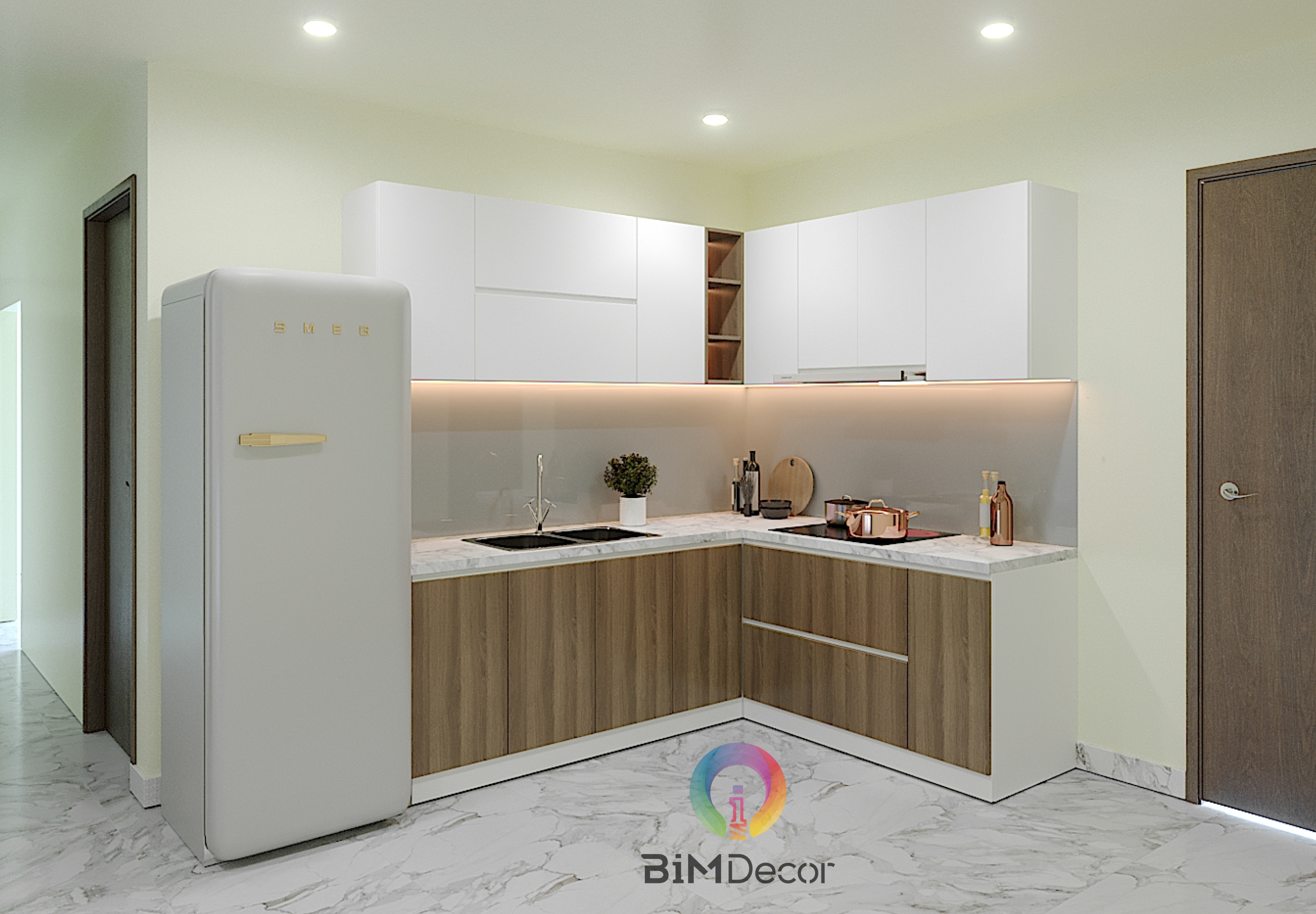 Tổng thầu thi công 300 căn tủ bếp dự án Goldora Plaza Nhà Bè