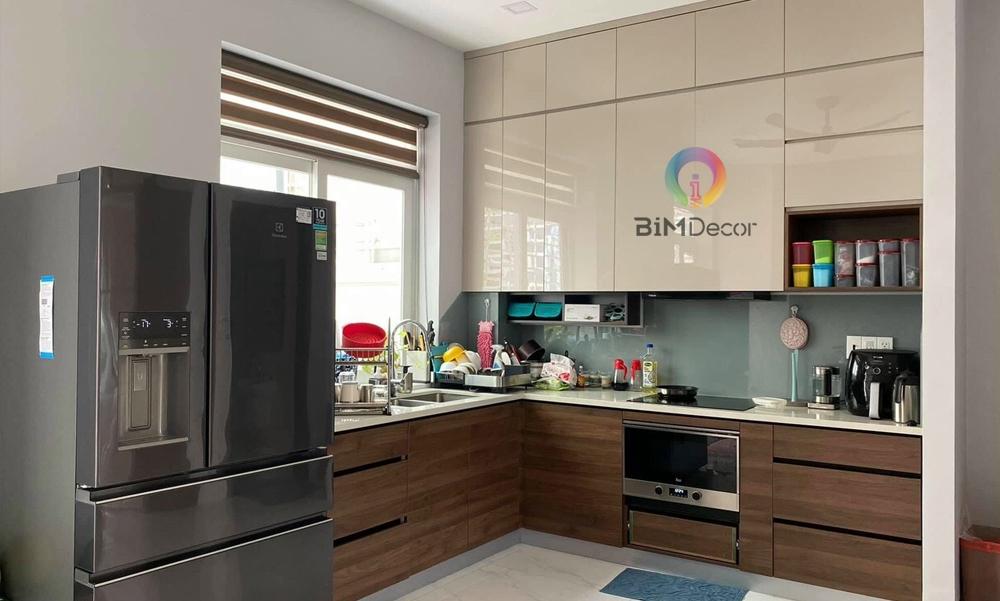 Hoàn thiện tủ bếp Acrylic nhà phố Merita Khang Điền Quận 9