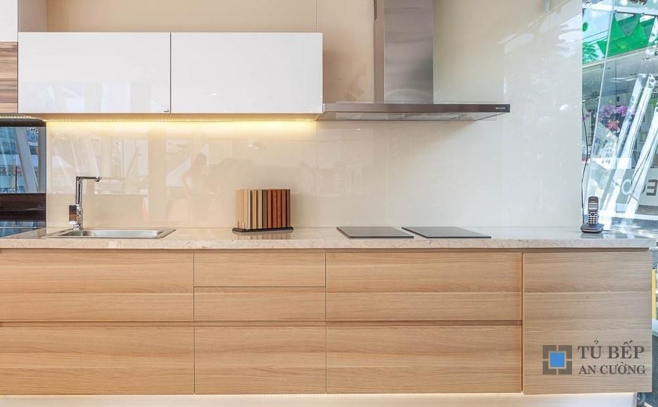 Tủ bếp gỗ An Cường dành cho chung cư Mẫu 011