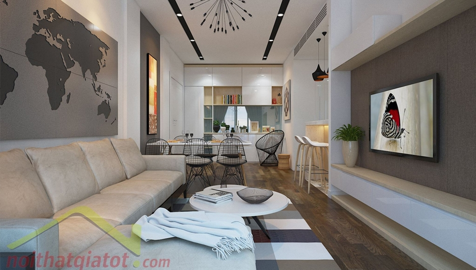 Thiết kế và thi công nội thất căn hộ Sunrise City North 108m2 Quận 7