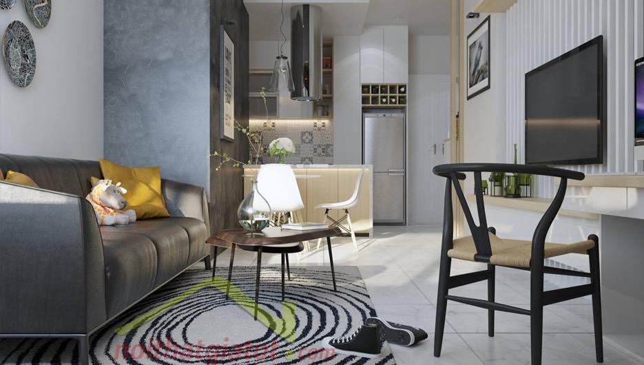 Thiết kế & thi công nội thất căn hộ 56m2 Sunrise City North Quận 7