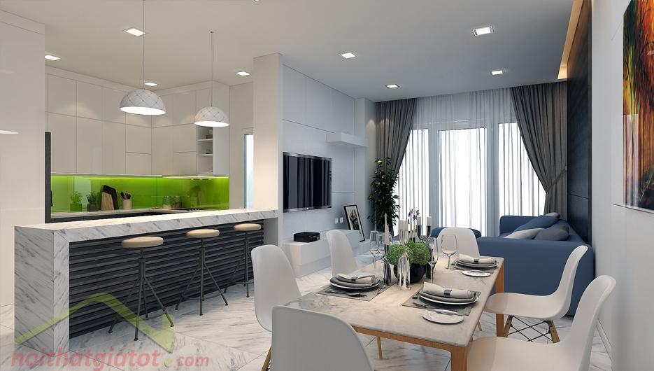 Thiết kế & thi công nội thất căn hộ 123m2 Sunrise City North