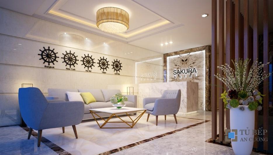 Thiết kế & thi công khách sạn cao cấp Sakura khu Trung Sơn