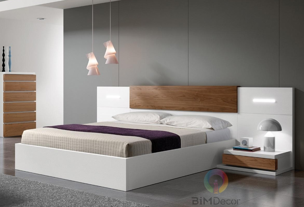 Giường ngủ gỗ công nghiệp hiện đại GN01