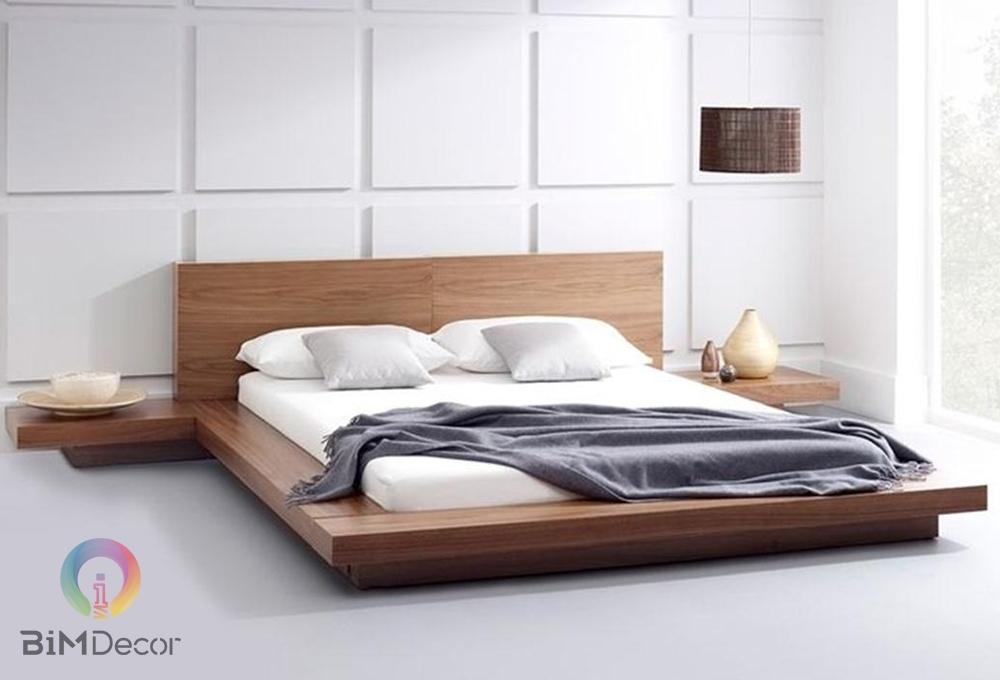 Giường ngủ gỗ công nghiệp hiện đại GN010