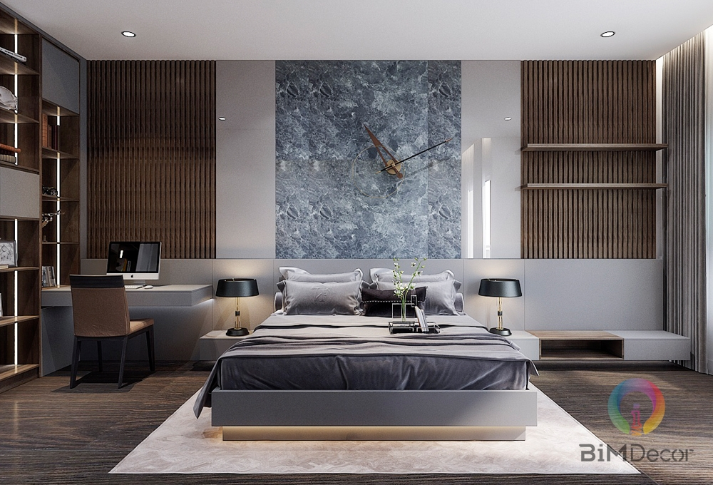 Giường ngủ gỗ công nghiệp hiện đại GN015