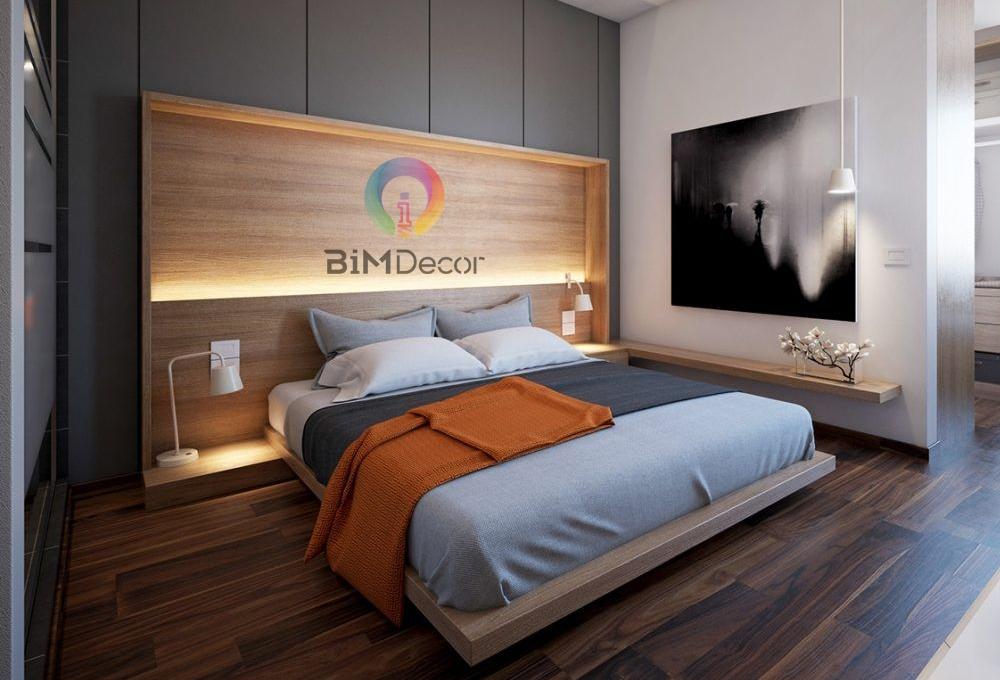 Giường ngủ gỗ công nghiệp hiện đại GN013