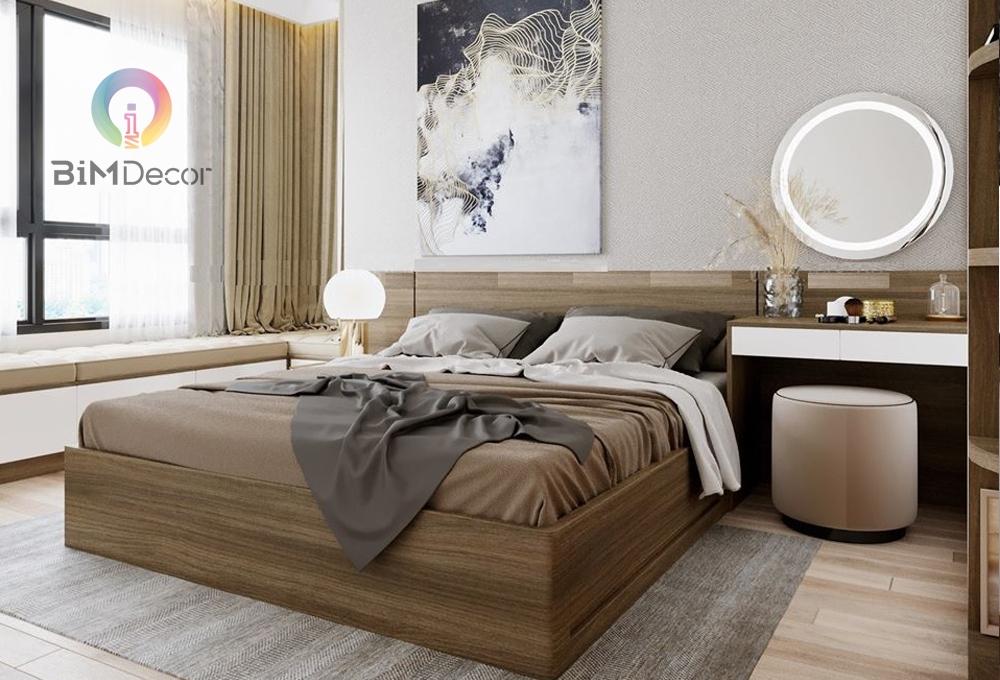 Giường ngủ gỗ công nghiệp hiện đại GN012