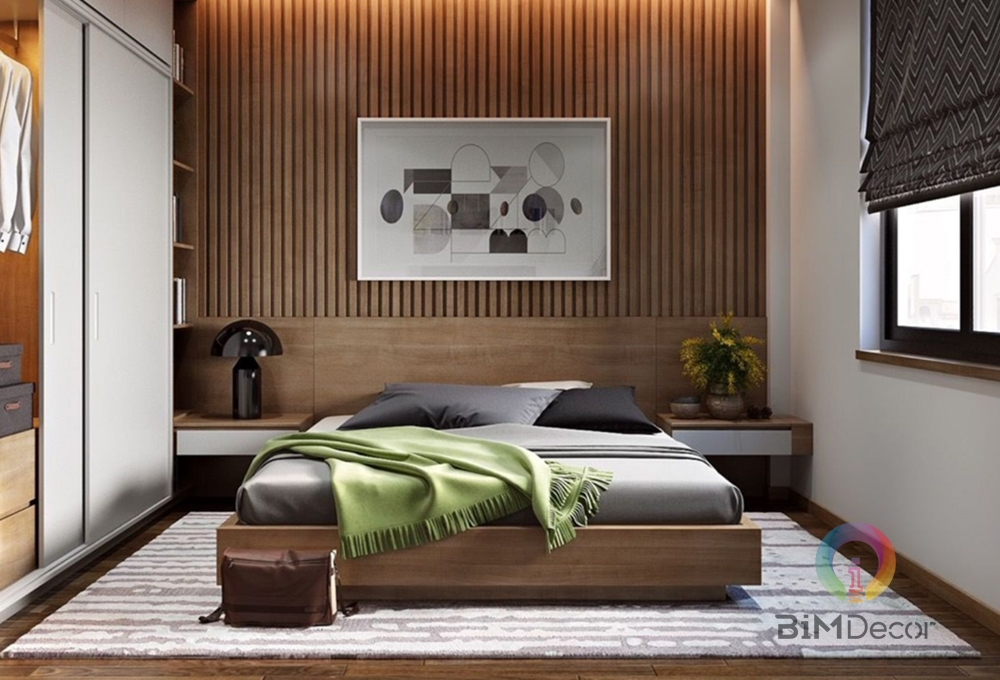 Giường ngủ gỗ công nghiệp hiện đại GN011
