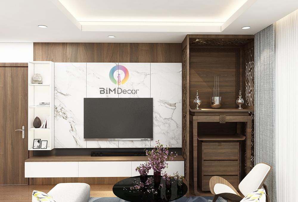 Kệ tivi hiện đại gỗ công nghiệp Lamiante TV010