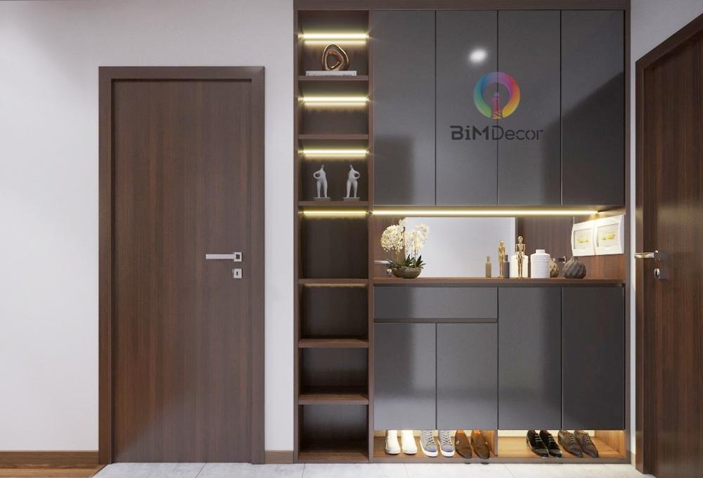 Tủ giầy đẹp gỗ công nghiệp Acrylic TG03