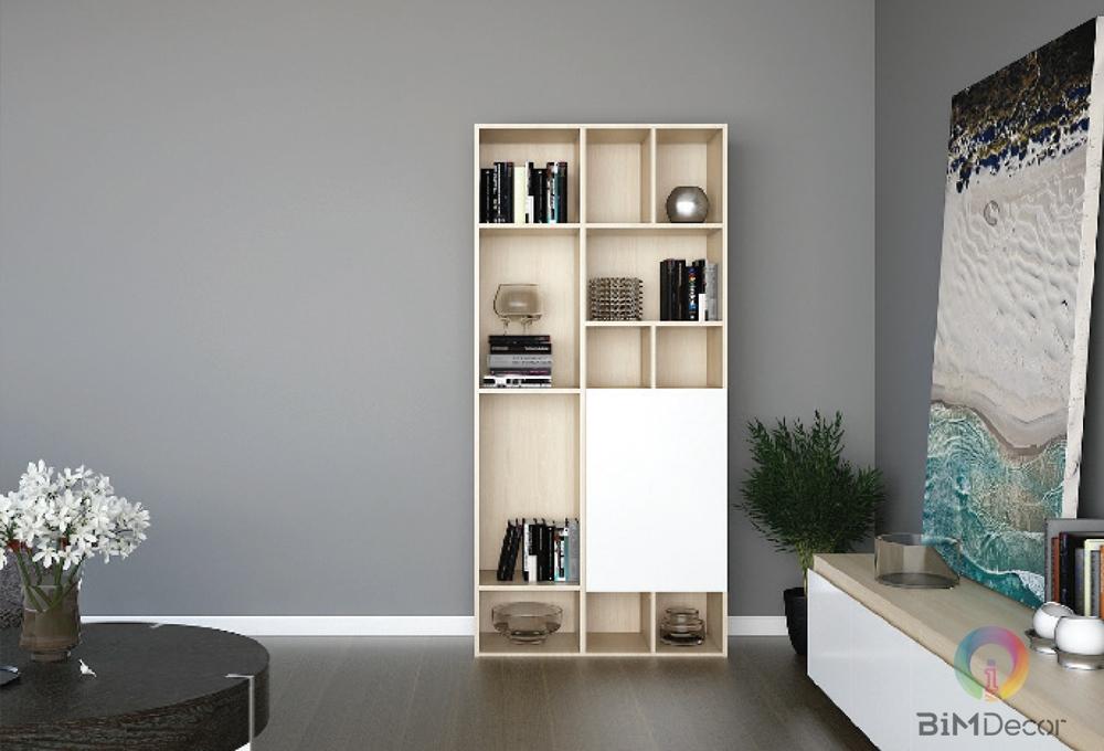 Tủ trang trí đẹp gỗ công nghiệp DC01
