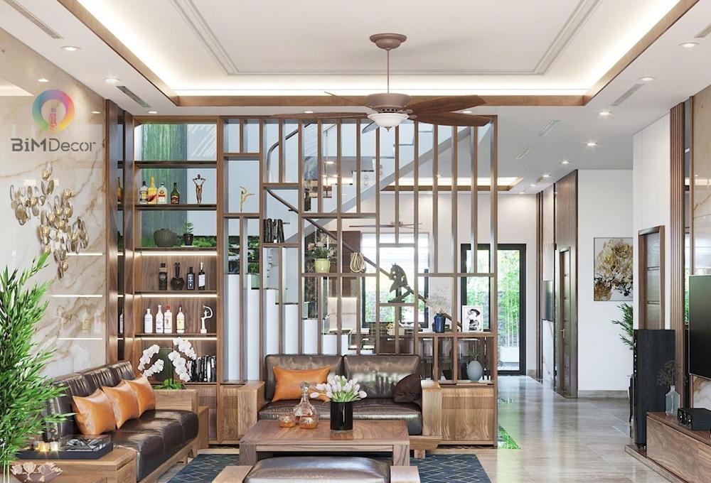 Tủ trang trí kế hơp lam gỗ công nghiệp DC014