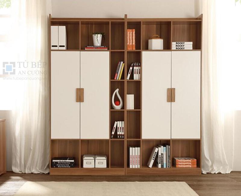 Tủ kệ sách đẹp gỗ công nghiệp KS010