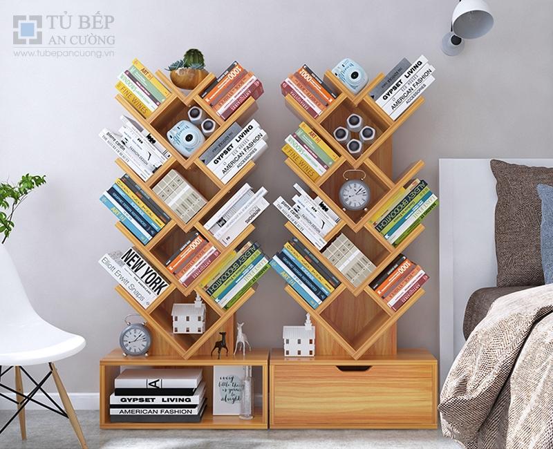 Tủ kệ sách đẹp gỗ công nghiệp KS013