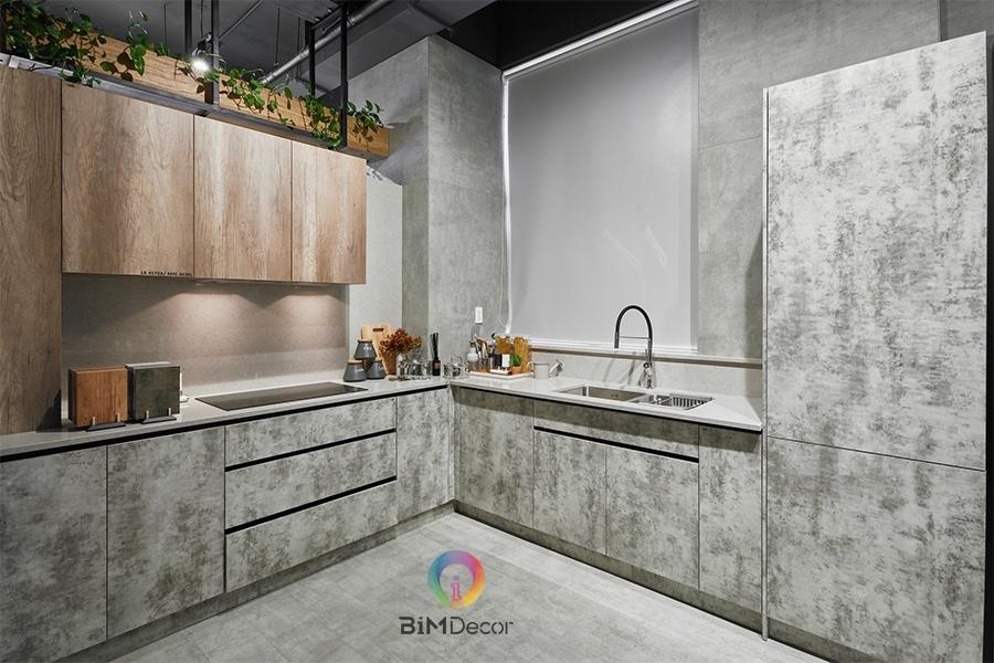 Mẫu tủ bếp đẹp Laminate MS202