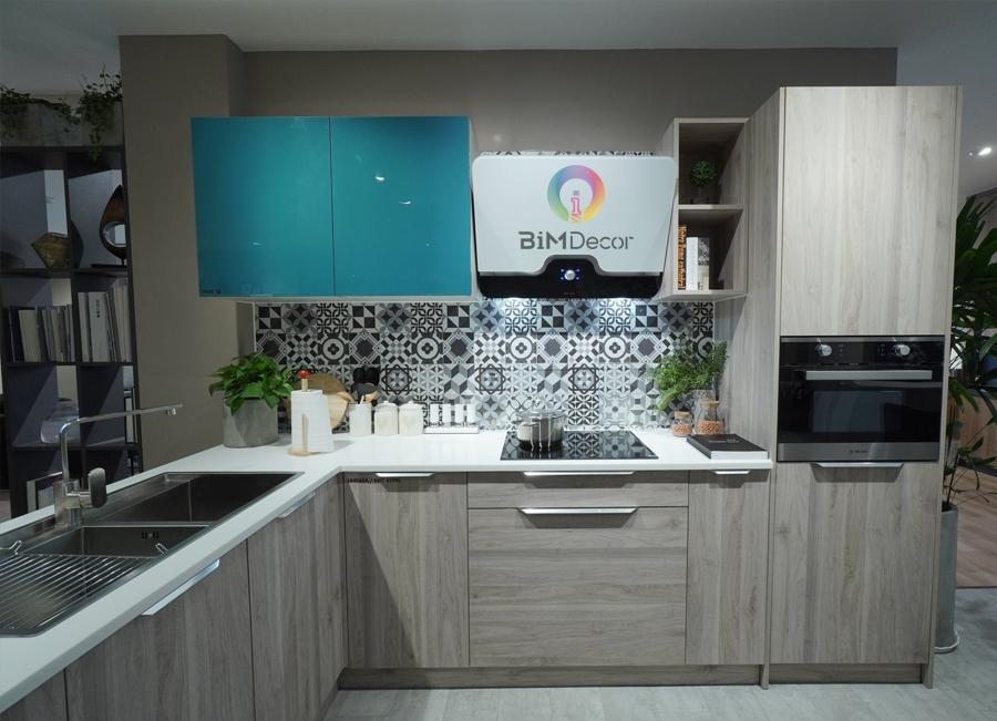 Mẫu tủ bếp đẹp Melamine & Acrylic MS204