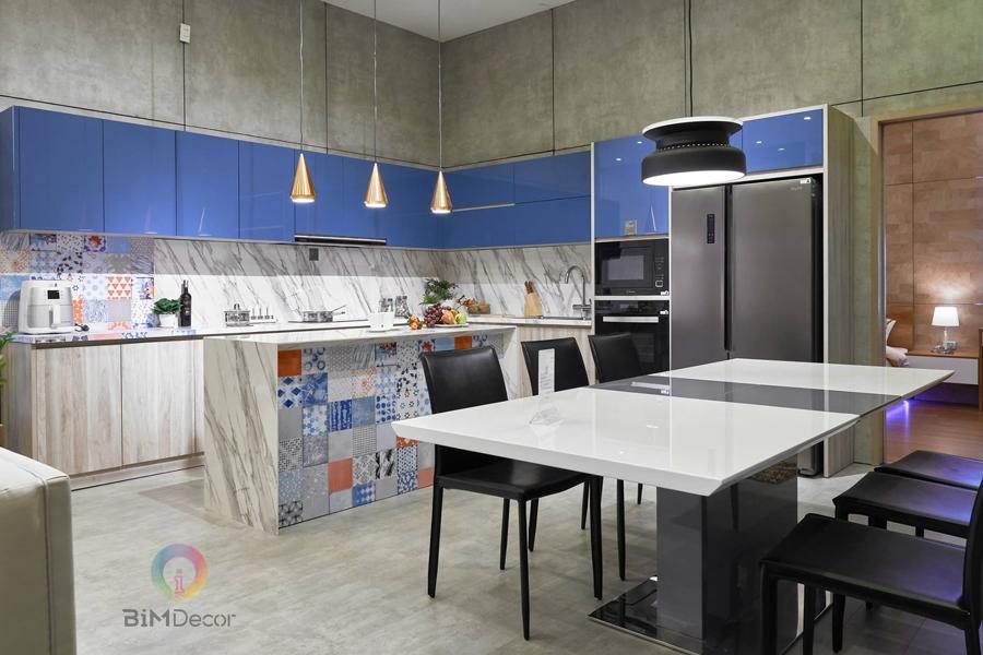 Mẫu tủ bếp đẹp Laminate MS208