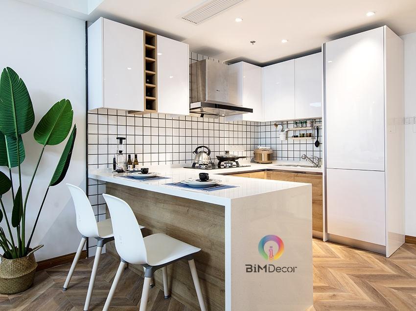 Mẫu tủ bếp đẹp Acrylic MS220