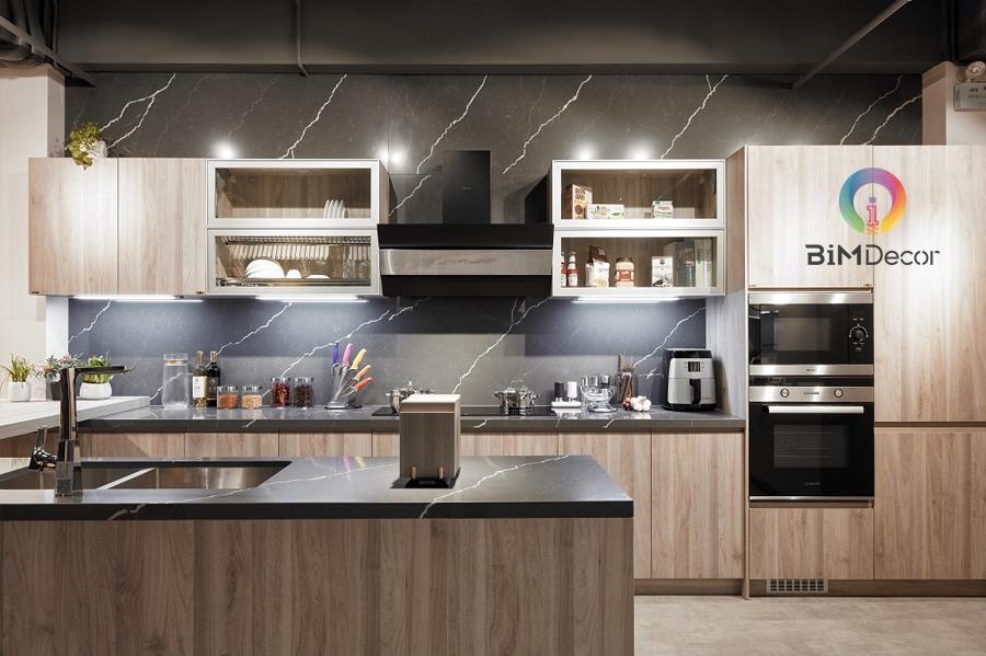 Mẫu tủ bếp đẹp Laminate MS209